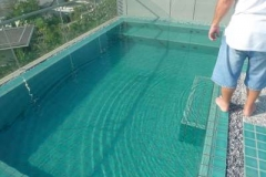 Modular Swimming Pool by Splash Pools on roof top of 5 Star Resort Phuket Thailand-400
